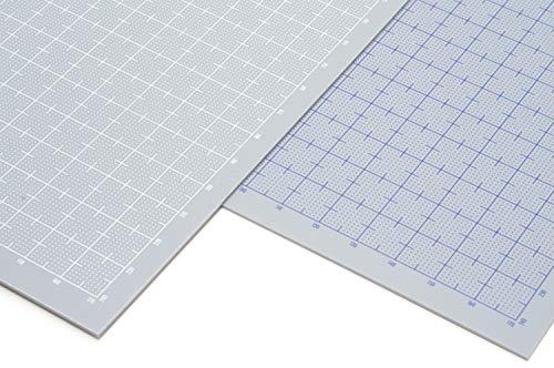 ウェーブ プラ=プレート 【目盛付:ホワイト】 B5 グレー 0.3mm