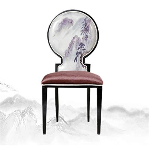 BJL-Barhocker Hotel-Stuhl-Tee-Restaurant-Bankett-Hotel-Hauptklassisches Thema-kreativer Tabellen-und Stuhl-Kombination Neuer chinesischer speisender Stuhl- / Tintenmalerei OYO (Color : 12#)
