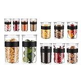 Bodum Presso Shatterproof Storage Jar 12 Piece Set, Black