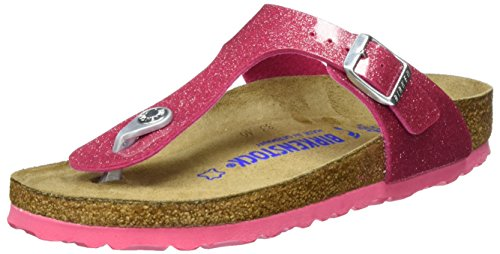 Birkenstock Classic Mädchen Gizeh Birko-Flor Softfootbed Zehentrenner, Pink (Magic Galaxy Bright Rose), 35 EU