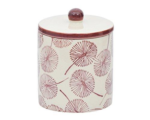 Tranquillo - Aufbewahrungsdose, Dose mit Deckel SAMIRA, handbedruckte Keramik, 8 x 8 x 12 cm