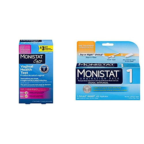 Monistat Test and Cure Pack (1- Vaginal Health Test, 1- Monistat 1-Day Yeast Infection Treatment)