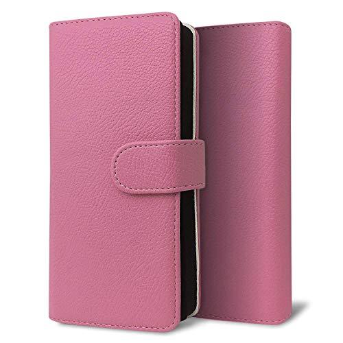 改良進化版 プルームテック プラス ケース Ploom TECH + 賢者の箱+ まとめて収納 コンパクト手帳型 ライチ柄 新型 ピンク
