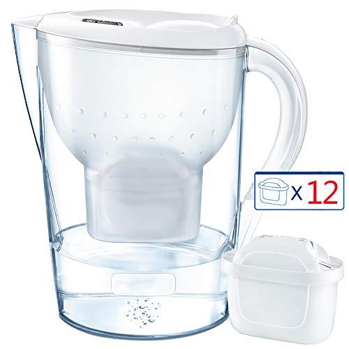 Huishoudelijke Net Kettle, 3.5L grote capaciteit 1 Pot 12 Core Water Filter Smart Display Reminder geschikt voor Home Kitchen of op kantoor,White