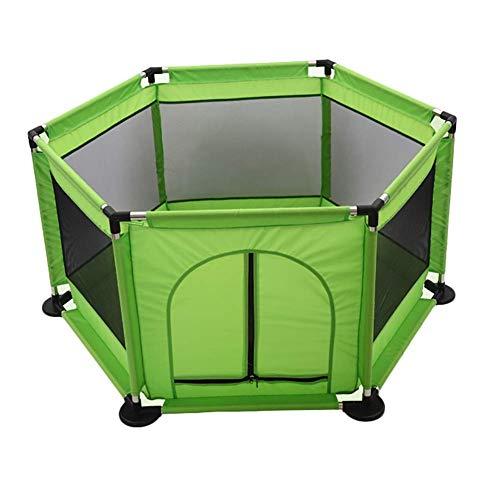 ZTMN Clôture pour Enfants Baby Indoor Playpen Child Safety Fence Home (Couleur: Vert)