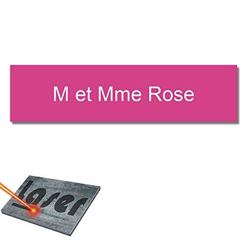 Mygoodprice - Placa grabada para el nombre del buzón (99 x 24 mm, personalizable, 1 a 3 líneas)