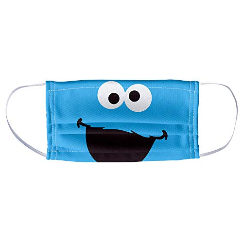 Sesame Street Cookie Monster Face Face 1-Ply Reusable Face Mask Covering, Unisex