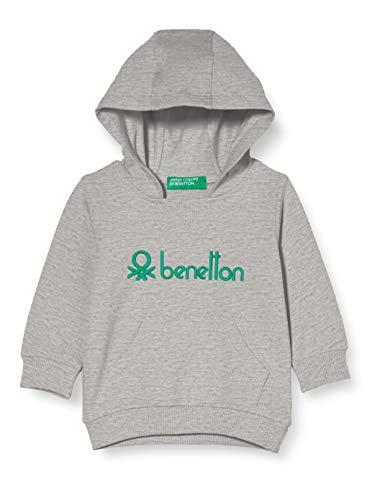 United Colors of Benetton Jungen 3CY4C2202 Kapuzenpullover, Melange Light Grey 501, 90