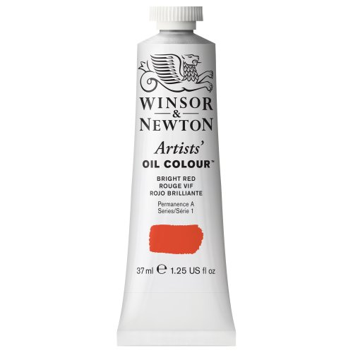 Winsor & Newton Artists' Oil Color Paint, 37-ml Tube, Bright Red