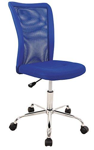 AVANTI TRENDSTORE - Sedia ufficio girevole blu regolabile, con piedi in aluminio.