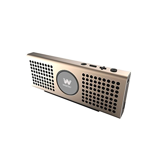 Woxter Big Bass BT-20 Golden- Altavoz portátil Bluetooth Ultracompacto de Aluminio, 10W...