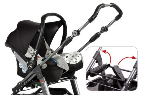 Hartan Adapter Passend Ab 2014er Modell: Sky, Vip (GT), Xperia, Topline, Racer, Skater GT für Maxi-Cosi, Kiddy, Joie, Cybex, Be Safe