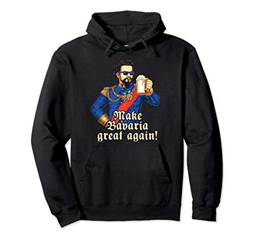 Make Bavaria great again - blauer König Ludwig Maßkrug Bier Pullover Hoodie