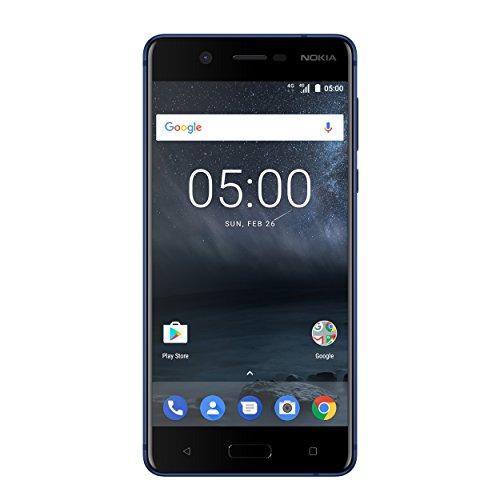 Nokia 5 Smartphone (13,2 cm (5,2 Zoll), 16GB, 13 Megapixel Kamera, Android 7.0, Single Sim) satin-temperiertes-blau, version 2017