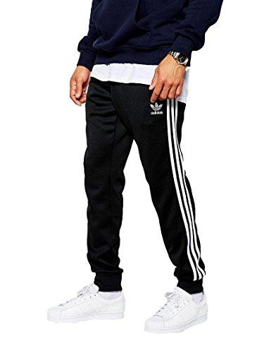 [アディダスオリジナルス] adidas Originals Superstar トラックパンツ ブラック S [並行輸入品]