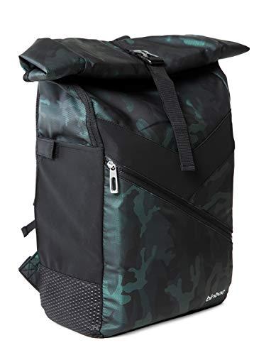 Hauptstadtkoffer blnbag M10 – Fahrrad Rucksack, Daypack mit Laptopfach, Kurierrucksack Sportrucksack Tagesrucksack mit Roll Top, Unisex, 21 Liter