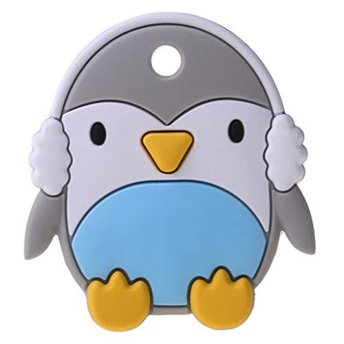 XIANGBEI Netter Cartoon-Pinguin-Silikon-Molar-Stab-Baby-Enttäuschungen-Beruhigungsschnuller Beißring Für Babys Kühlend, Kleinkinder Beissring Für Zum Zahnen, Managerlicher Kühlbeißring