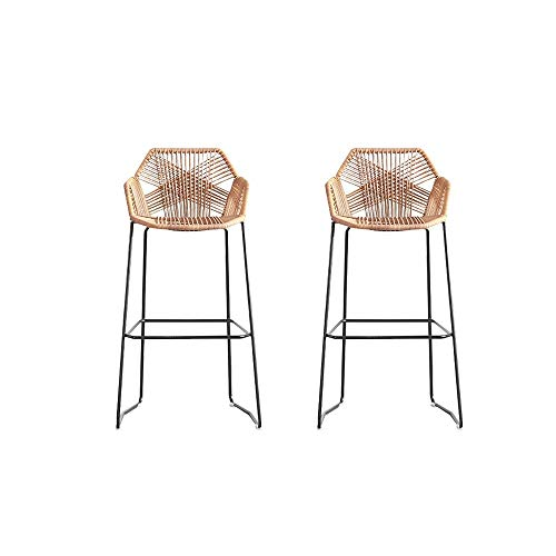 Bar Chair Rattan Chair Bar Stool High Stool Home Back Dining Chair Comfortable Simple and Beautiful...