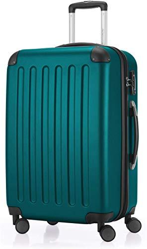 Hauptstadtkoffer - Spree Hartschalen-Koffer Koffer Trolley Rollkoffer Reisekoffer Erweiterbar, 4 Rollen, TSA, 65 cm, 74 Liter, Aquagrün +Gepäckgurt