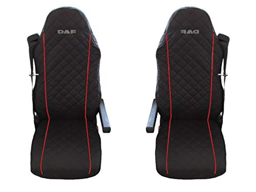 Unknow LKW DAF XF LF 105 EURO5 2 x LKW-Sitzbezüge Rote Beats /1 für den Fahrer und 1 für den Beifahrersitz/