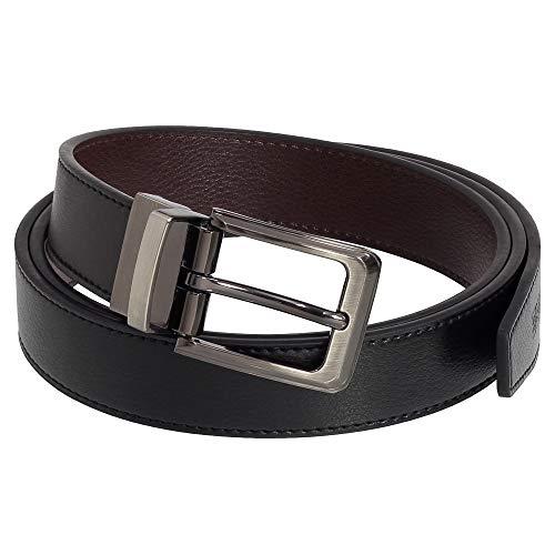 Ledergürtel Herren & Damen Gürtel - Leder-Gürtel Breite 30 mm Wendegürtel Schwarz Braun 120 cm Bundweite