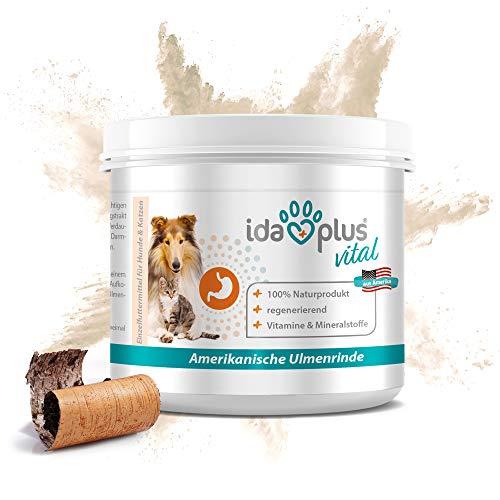 Ida Plus - amerikanische Ulmenrinde - für Hunde & Katzen – Ulmenrinde Pulver - für eine ausgewogene Darmtätigkeit - mit Vitaminen & Mineralstoffen, Magnesium, Calcium und Natrium 50 g