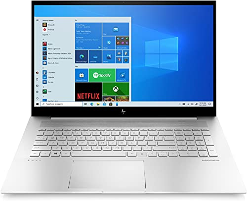 HP ENVY 17-ch0058ng (17,3 Zoll / Full HD IPS) Laptop (Intel Core i5-1135G7, 16GB DDR4 RAM, 512GB SSD, Nvidia GeForce MX450 Grafik, Windows 10, QWERTZ-Layout) silber, Fingerprintsensor
