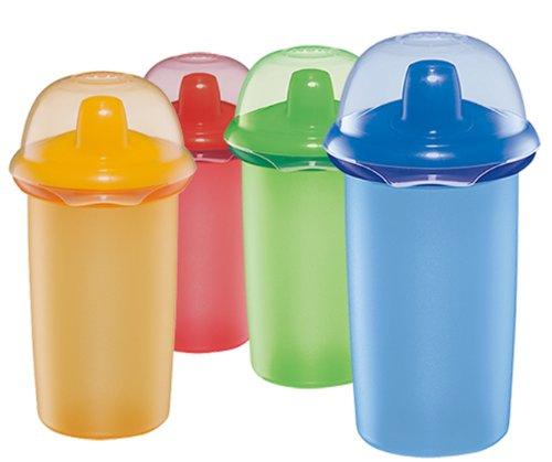 NUK 10255052 - EASY LEARNING Maxi Cup 2in1, 330ml, auslaufsichere Trinktülle mit Extraring für Trinkbecherfunktion, BPA-frei, Farbe nicht frei wählbar