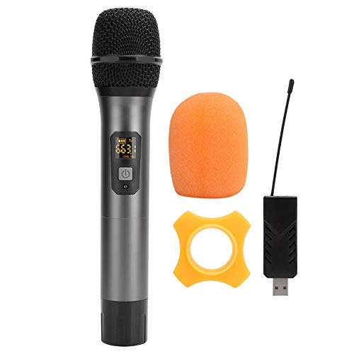 Xuzuyic Micrófono inalámbrico de Mano USB, Altavoz de micrófono de máquina de Karaoke portátil para niños y Adultos, Fiesta en casa, cumpleaños, para Equipo de Audio Cuadrado KTV en casa