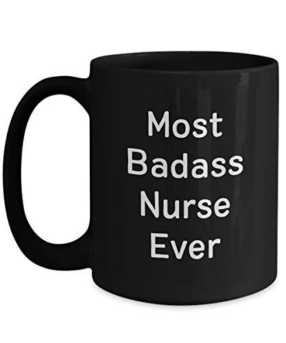 N\A La Enfermera más rudo del Mundo - Taza de café de cerámica Negra