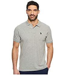 U.S. Polo Assn. Men's Solid Interlock Short- Sleeve Polo Shirt