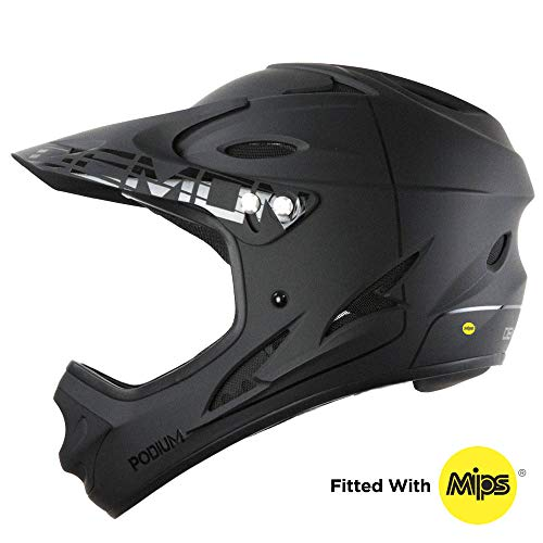 DEMON UNITED Podium Full Face Mountain Bike Helmet w/MIPS Brain Protection System (Large)
