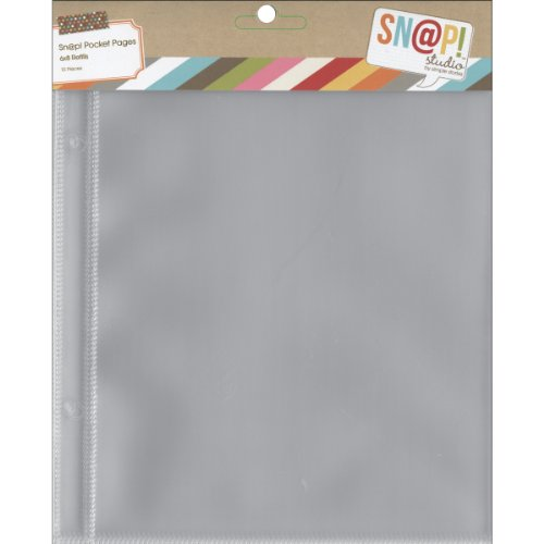"Simple Sn@p! Pocket Pages For 6""X8"" Binders 10/Pkg, (1) 6""X8"" Pocket"