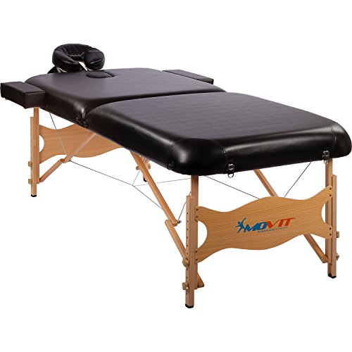 Movit® Deluxe Massageliege inkl. Tasche, XXL Breite 80cm, 8cm Polsterung, Vollholzgestell, Farbwahl, schadstoffgeprüft