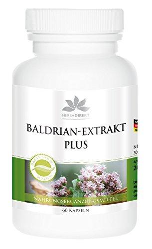 Baldrian-Extrakt Plus mit Hopfen und Melisse - 60 Kapseln - vegan