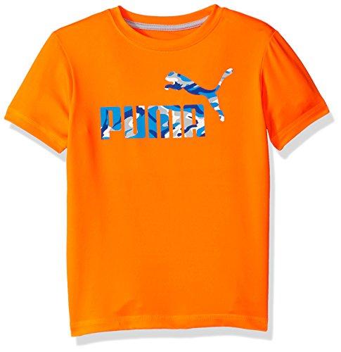 PUMA Big Boys' No.1 Logo Tee, Fire Orange, 10-12 (Medium)