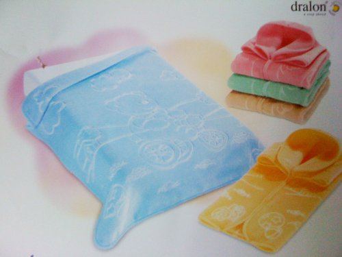 Decke Größe Bebe–Baby Tasche Wunderkind 519–THEME Bär Fait Du Velo blau