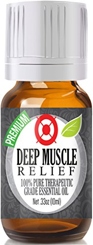 Deep Muscle Relief Blend Essential Oil - 100% Pure Therapeutic Grade Deep Muscle Relief Blend Oil - 10ml