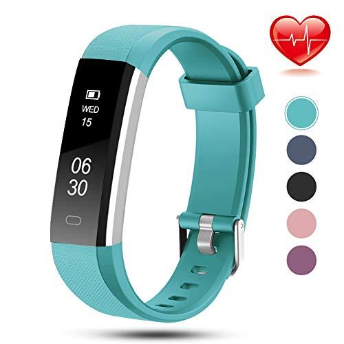 Lintelek Fitness Armband NEU Fitness Tracker mit Herzfrequenz Schmal Sport Uhr Benachrichtigung Anrufe SMS Nachrichten Reminder Smartwatch Schrittzähler Schlafmonitor Aktivitätstracker
