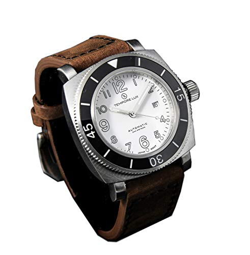 TEMPORE LUX V ONE 04 White Automatic - Brown Italian Strap