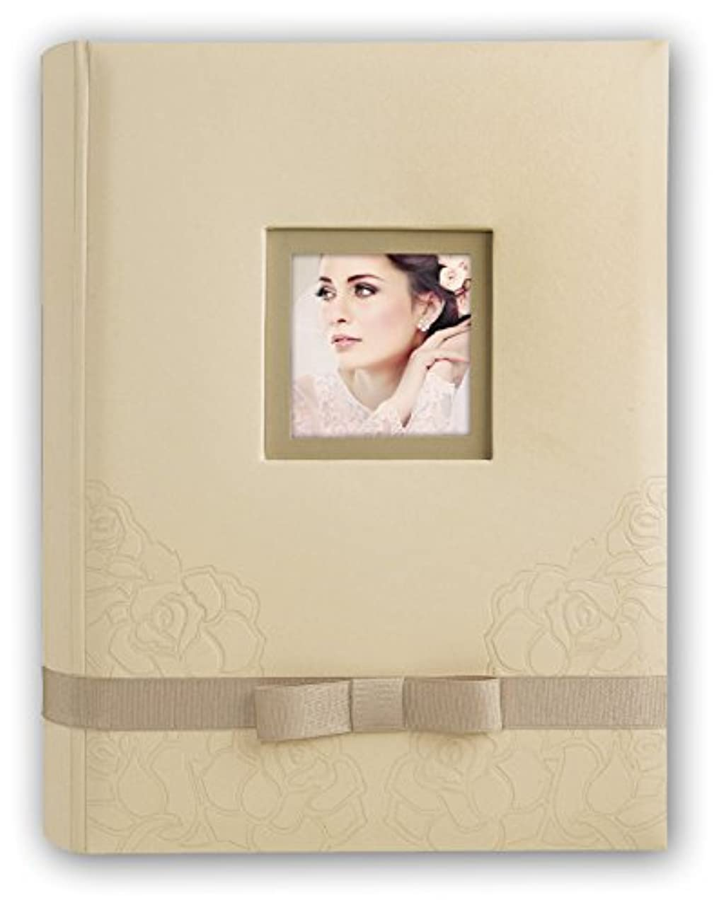 Zep re243230?Rebecca Wedding Traditional Photo Album 60?Pages Laminated Paper 24?x 32?cm Beige