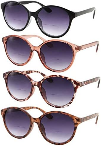 4 Pack Women s Bi Focal Sunglasses Fashion Cat Eye Readers Bifocal Reading 4 Pack Black Pink product image