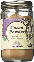 Imlak'esh Organics, Cacao Powder (12-Ounce Glass Jar), Chocolate — Keto   Paleo   Organic   Regenerative   Heirloom   Baking   Sugar-Free   Gluten-Free   Non-GMO