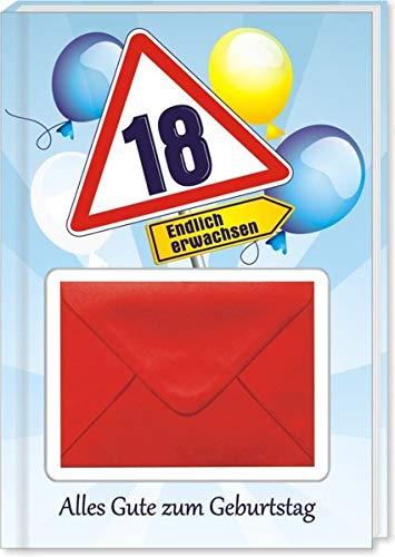 AV Andrea Verlag Geldgeschenk Buch Piccolo mit Blattgold Kräuterlikör Schnäpse Zollstock Alles Gute zum 18. Geburtstag Geldgeschenk für Männer und Frauen als Geburtstagsgeschenk (Alles Gute 18)