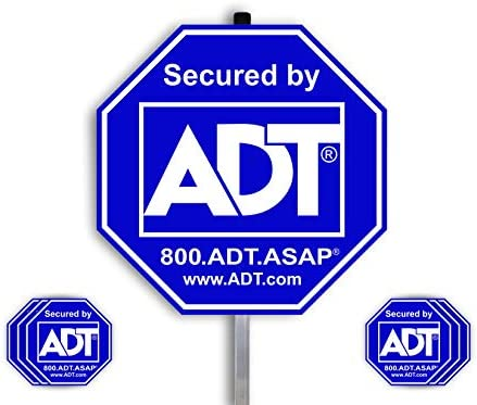 ADT Security Signs with 1 Stake Post 100 Aluminum 28 Long Aluminum Stakes for Yard Sign Blue product image