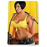 SIGNO DE ESTAÑO Mellow Yellow Cowgirl Pin-up Girl Shop Soldadura Hot Metal-20x30cm...