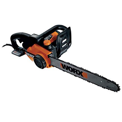 WORX WG303E elektrische Kettensäge 2000W mit 40cm langem Schwert, zum Sägen von Bäumen, Ästen u.v.m. - mit Ölstand-Anzeige & automatischer Kettenschmierung