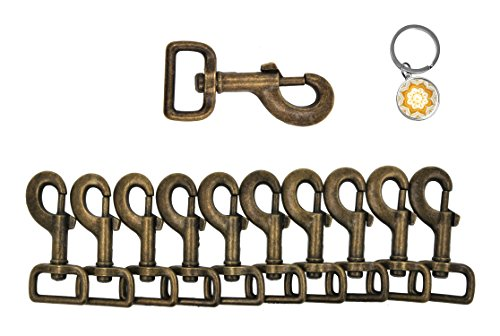 Mandala Crafts Swivel Bolt Snap Hooks, Lobster Clasps, Heavy Duty Antique Brass Trigger Leash Clips for Dogs, Backpacks, Bags, Straps, Harnesses