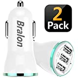 Bralon USB Car Charger[2-Pack],24W/4.8A Rapid Car Charger Compatible with iPhone 12(Pro Max)/12 mini/11 Pro Max/Xs/Xs max/Xr/X/8,iPad,Galaxy Note S10/S9/S8 and More