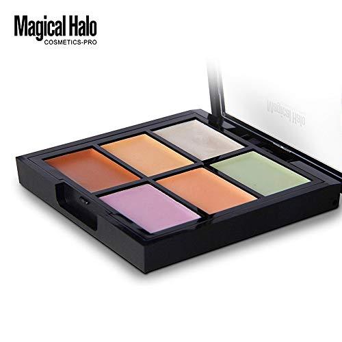 ❤️Vovotrade❤️❃❤️ 3D Anti-Cernes Palette Correcteurs 6 Couleurs 1 PC Fond de Teint Crème Highlight Poudre Shimmer Anti-cernes Poudre de Éclaircir de Peau Haute Lumière Powder Beauté de Maquillage